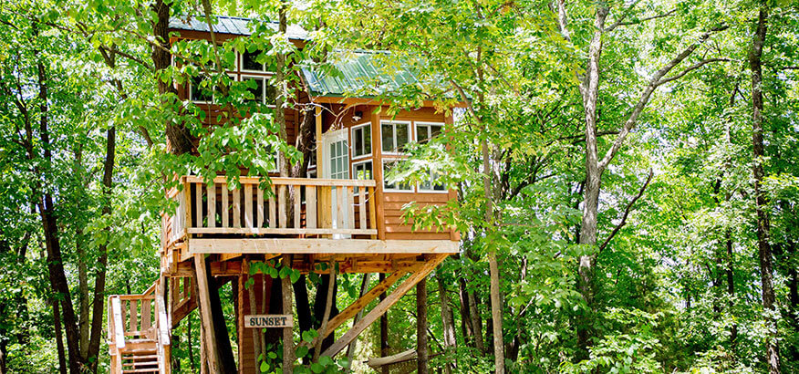 the cottage sunset treehouse