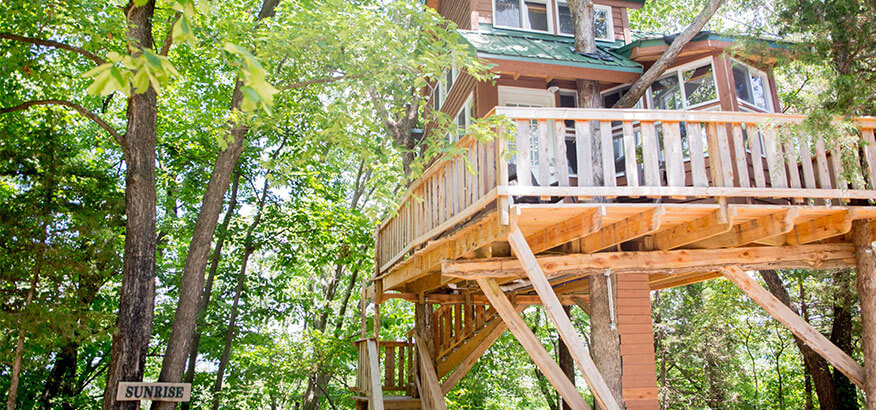 the cottage sunrise treehouse
